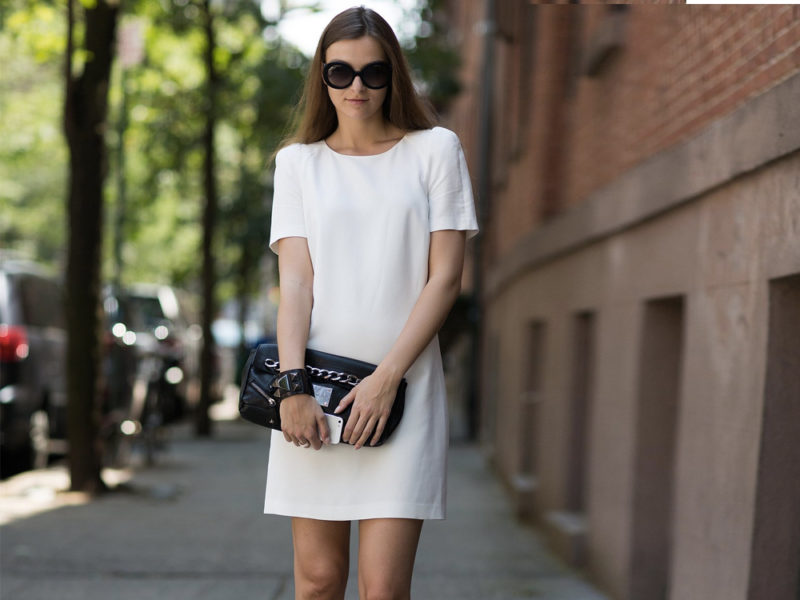white dress outfit