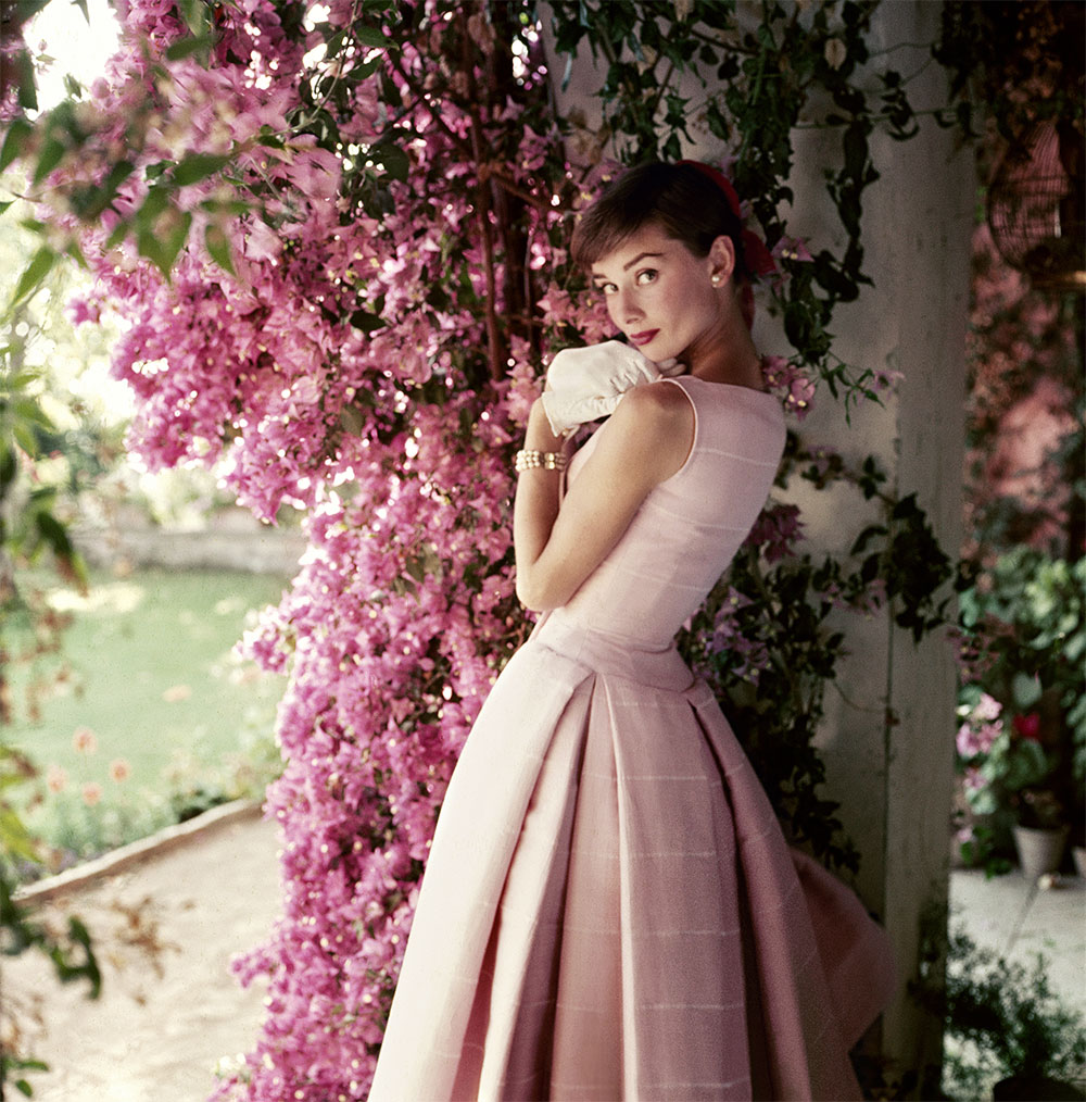 Audrey Hepburn pink clothing