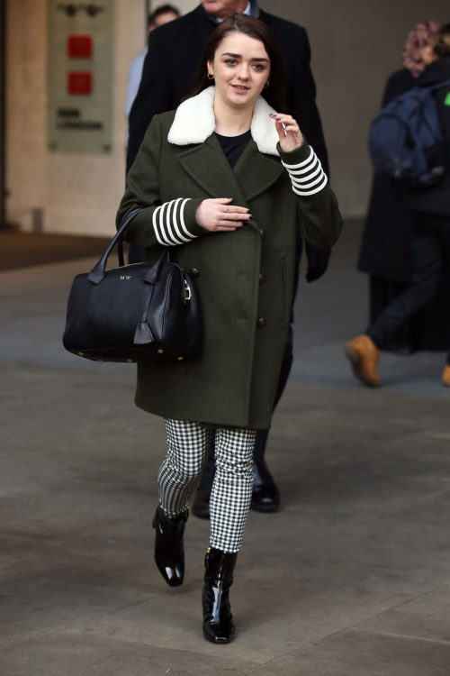 Maisie Williams Gingham Trousers