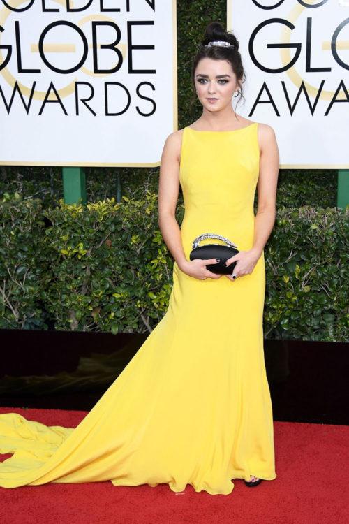 Maisie Williams Yellow Dress