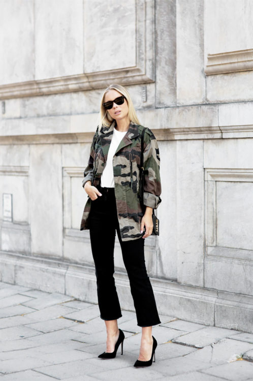 camo jacket outfit