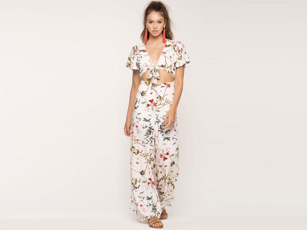floral jumpsuit outfit