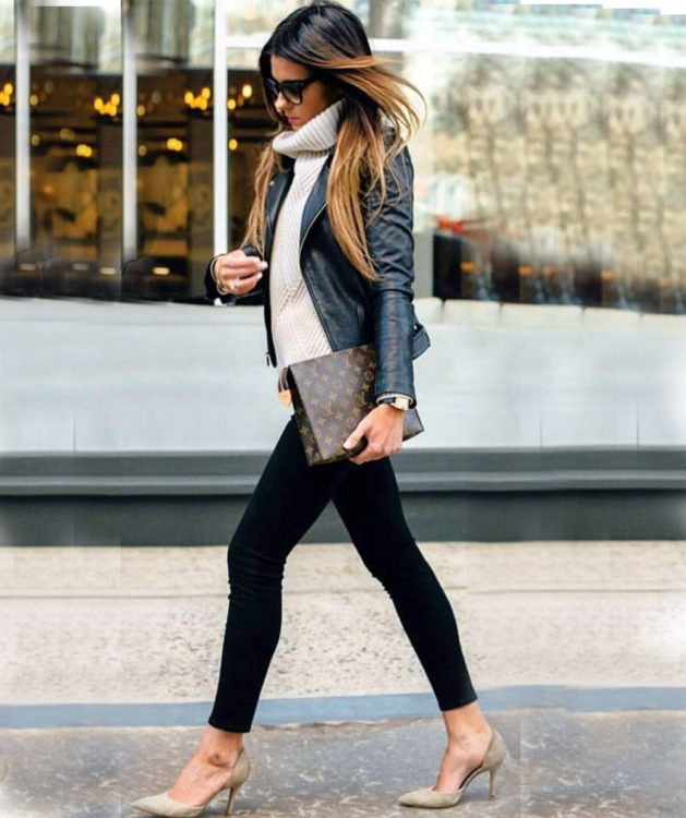 leather office outfit ideas