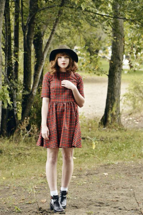 retro dress outfit