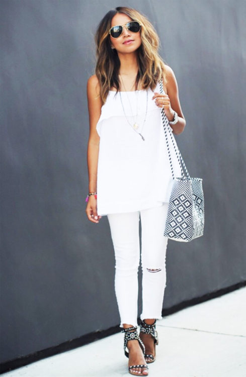 white on white outfits