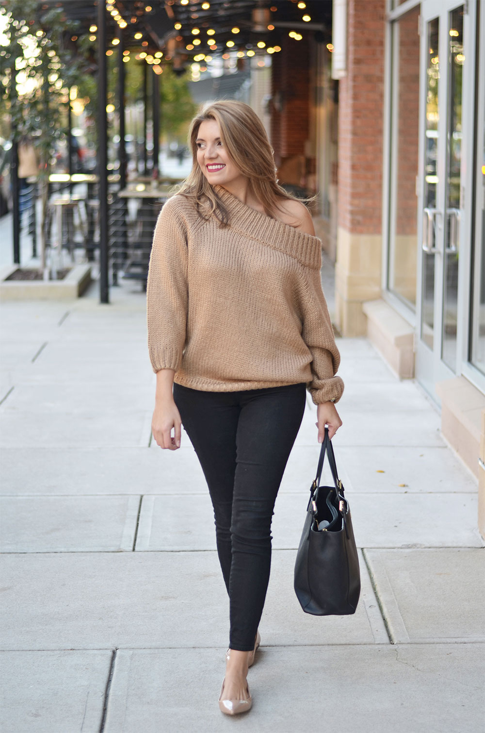 chunky sweater outfit