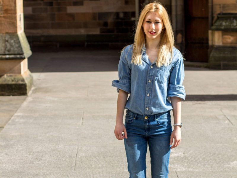 denim shirt outfit