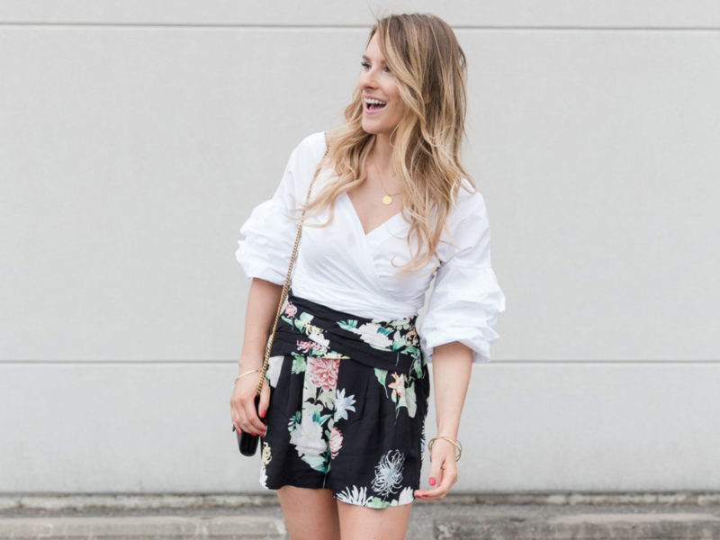 floral short outfit