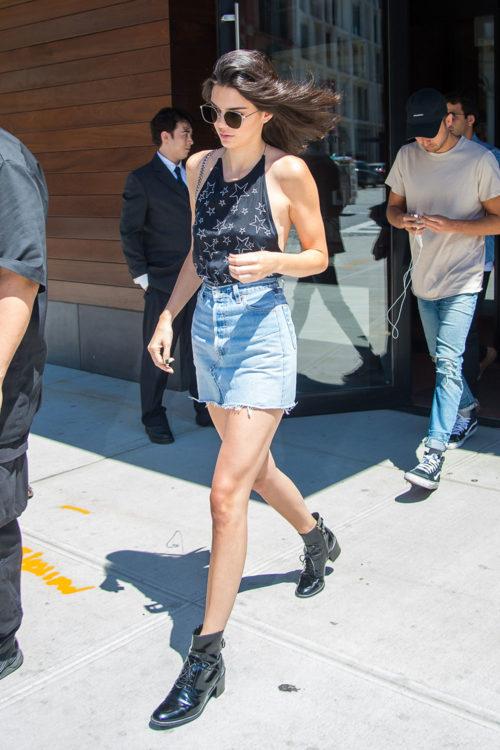 Kendall Jenner Denim Skirt