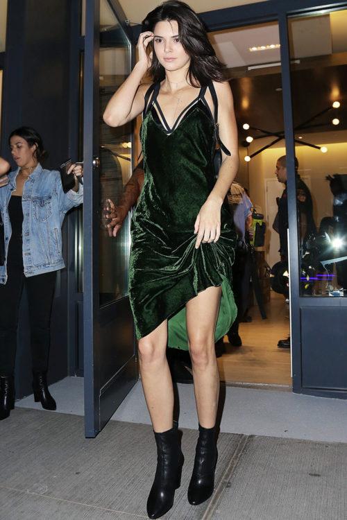 Kendall Jenner Green Velvet