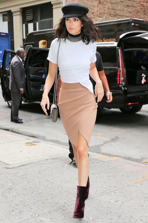 Kendall Jenner Slit Skirt