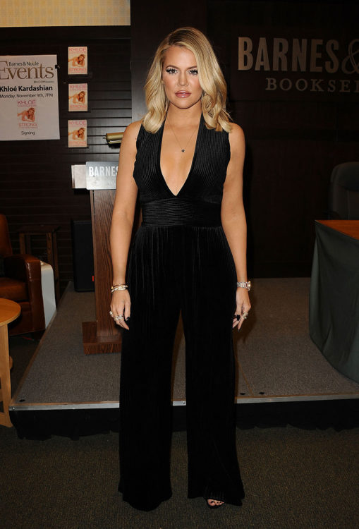 Khloe Kardashian Black Jumpsuit