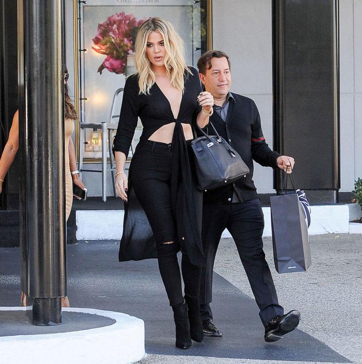 Khloe Kardashian Knotted Top