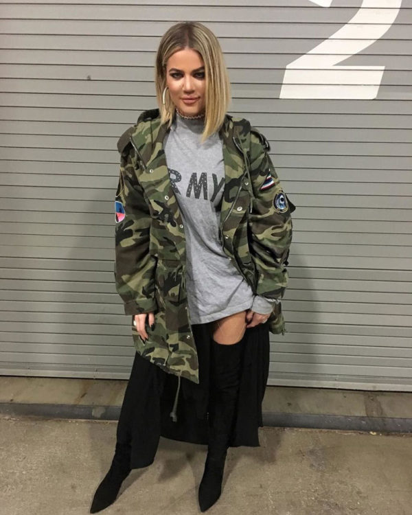 Khloe Kardashian Military Jacket