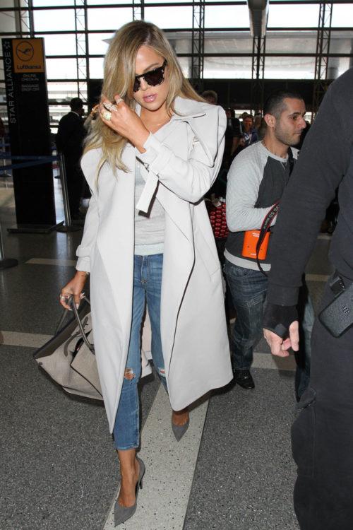 Khloe Kardashian Trench Coat