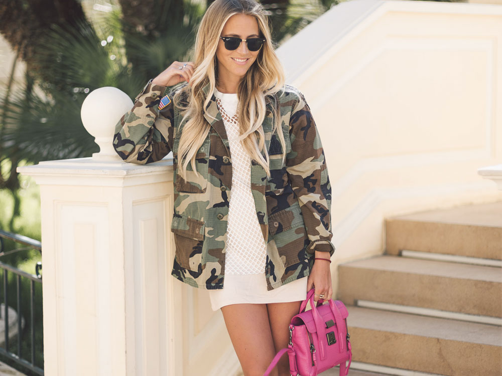 military jacket outfit