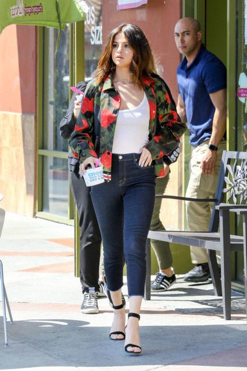 Selena Gomez Floral Jacket