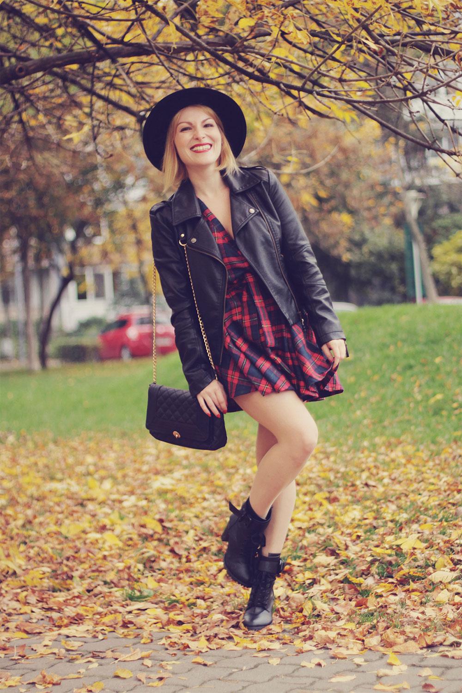 tartan dress outfit