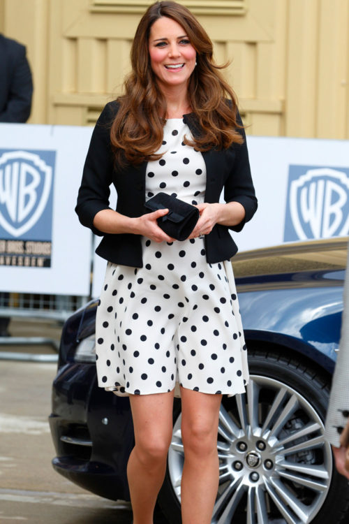 kate middleton polka dots outfit