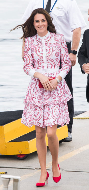 kate middleton ruffle dress outfits